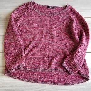 Alice Bizous metallic flecked berry color sweater